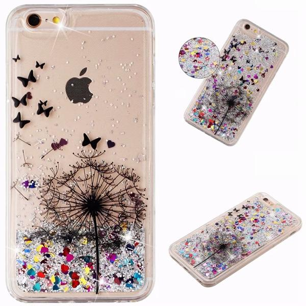 Glitter Case For Apple Iphone 6 6s Plus Cute Bling Dynamic Liquid Quicksand Fitted Cover Iphone6 Iphone6s 6p 6sp Soft Tpu Cases Phone Bags & Cases Fitted Cases