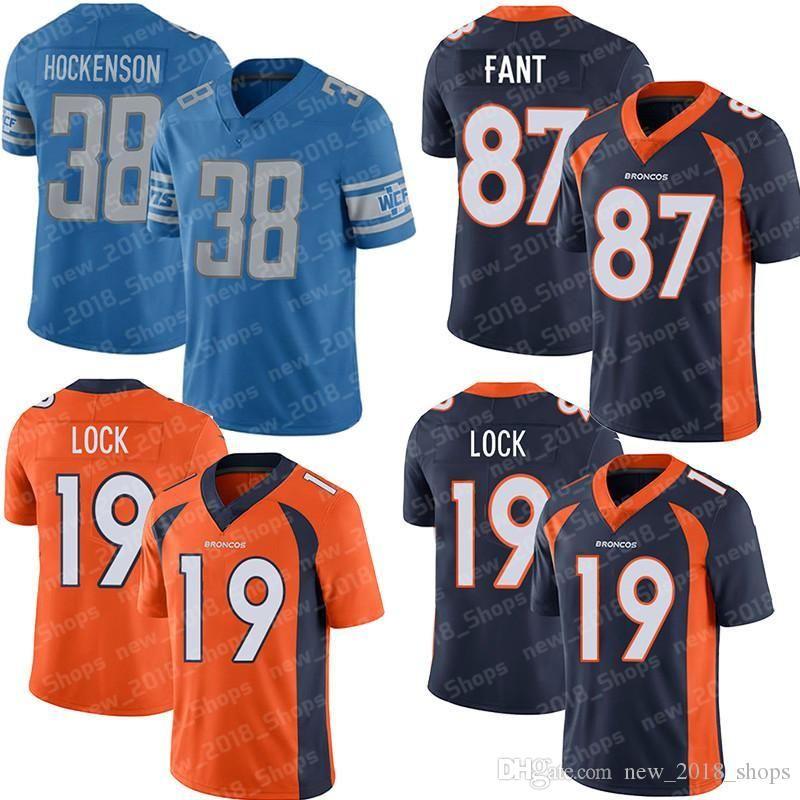 brand new ede0f 24660 87 Noah Fant 19 Drew Lock Denver football jersey Bronco 38 T.J. Hockenson  30 Phillip Lindsay 58 Von Miller 4 Case Keenum