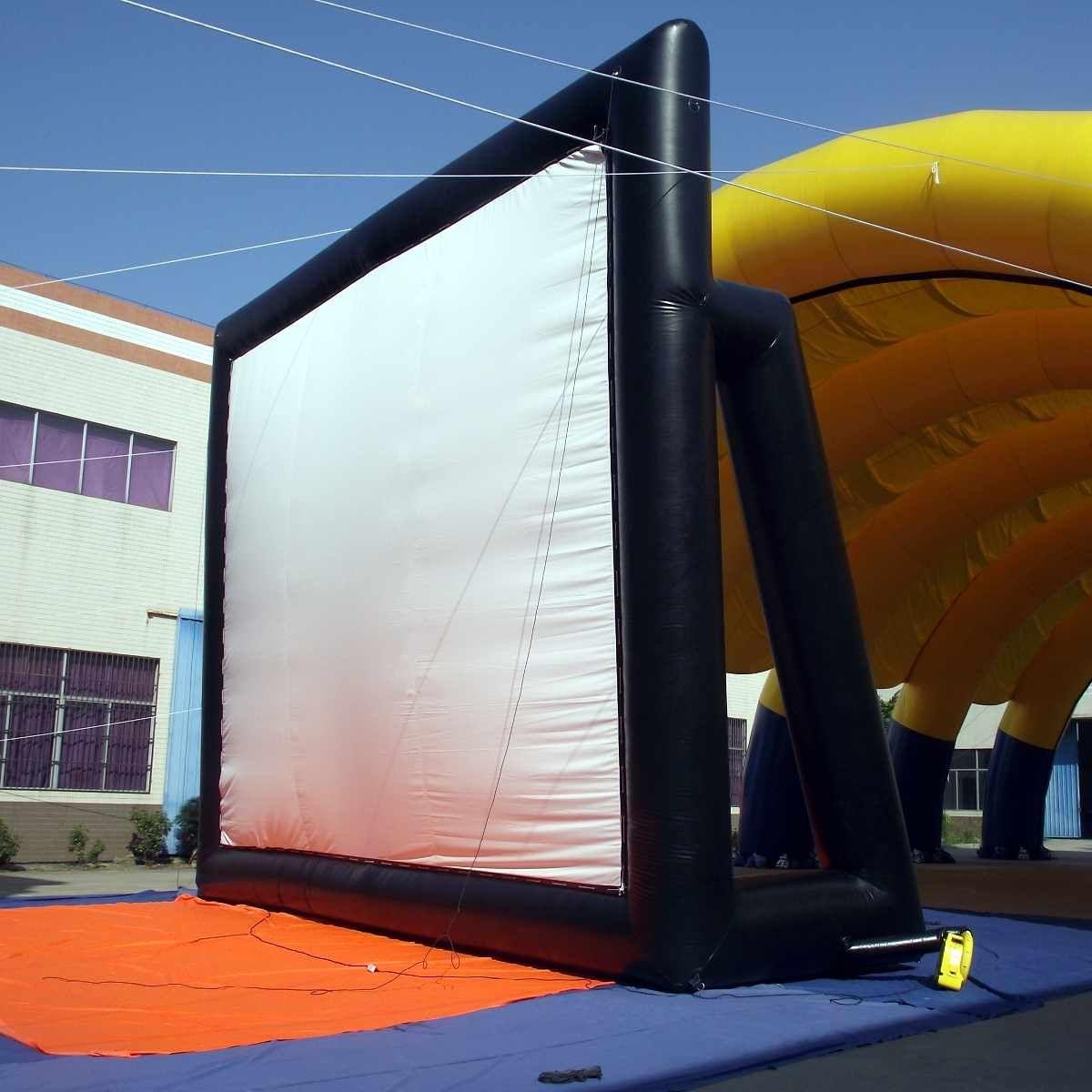 5x3m 16 9 Riesige Aufblasbare Filmleinwand Projektor Projektionsfilm Kino Theater Hinterhof 110 220 V Aufblasbare Geblase