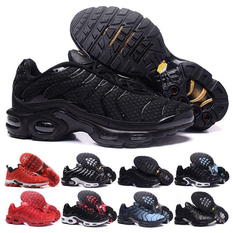 nike air max TN shoes Triple Negro Blanco para hombre Zapatillas de deporte de malla transpirable Azul rojo astilla Chaussures Homme Tn Sport Sneaker
