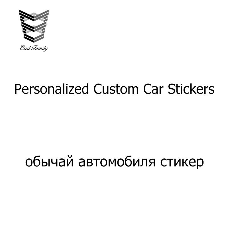 Earlfamily 1pc Car Styling Custom Stickers Die Cut Personalized Vinyl Decal Bumper Sticker Customized Car Wrapping Sticker Maker