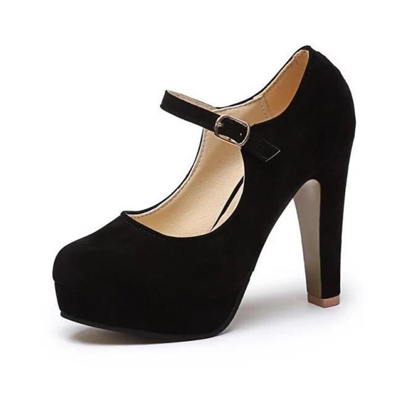 91bd67d8 Zapatos de vestir de diseñador Nuevo Envío gratis Bombas Mujeres en verano  2019, los nuevos tacones altos atractivos redondos de gamuza trabajo cómodo  12 cm