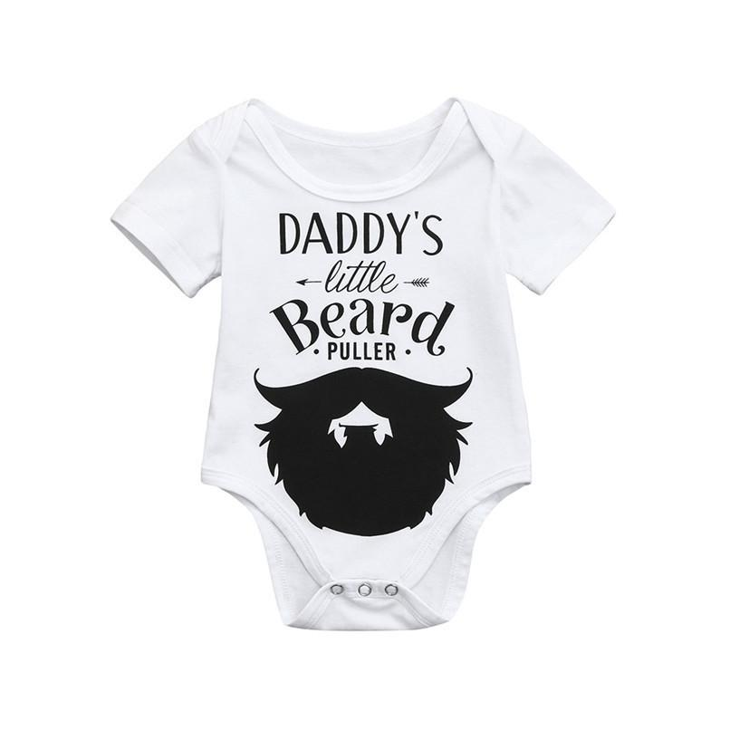 4525dd6458 2019 Summer Babys Romper Cute Toddler Newborn Kids Baby Boys Girls Short  Sleeve Letter Print Romper Jumpsuit Baby Clothes M8Y23 From Textgoods01, ...