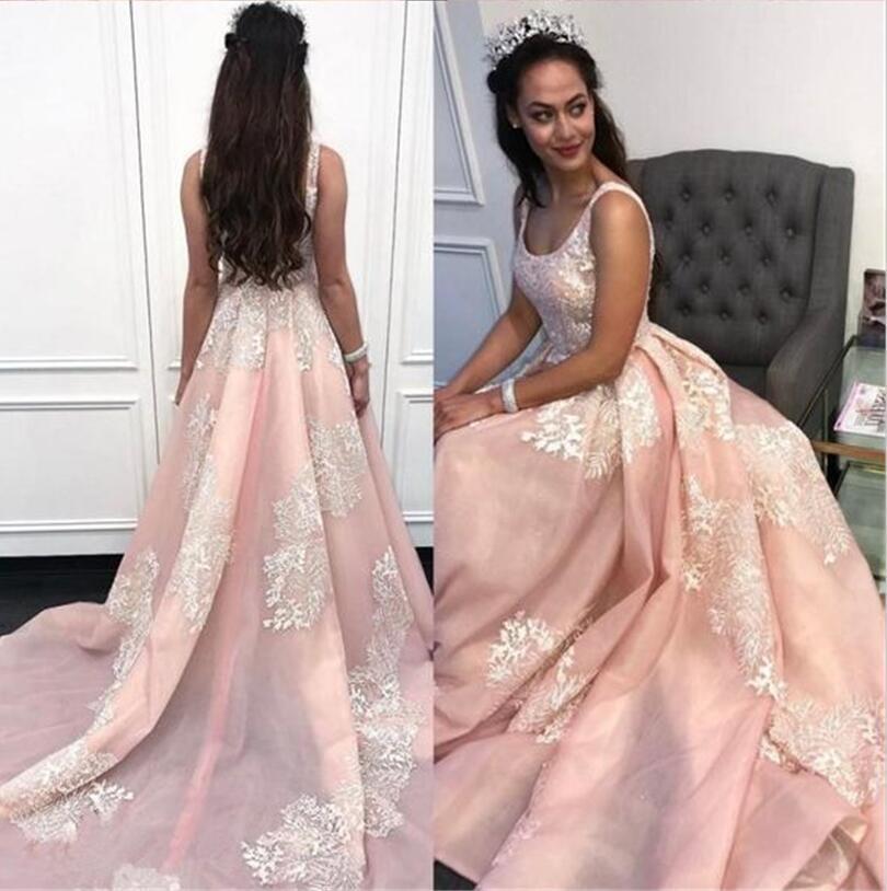 550e1273ba03b Satın Al 2019 Vintage Pembe Gelinlik Modelleri Fildişi Dantel Dubai Örgün  Pageant Elbise A Hattı Kare Boyun Nişan Afrika Arapça Elbise, $119.2 |  DHgate.