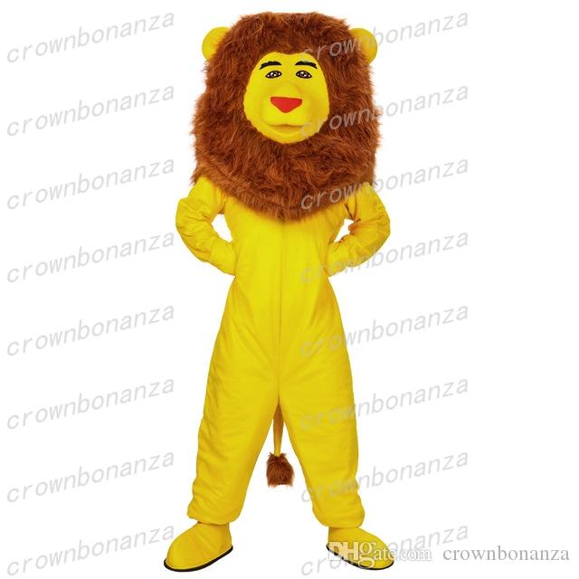 432b6f1aa Yellow Lion Mascot Costume Anime Theme Carnival Halloween Cartoon Costume  Character Christmas Birthday Party Suit Family Halloween Costumes Good  Halloween ...
