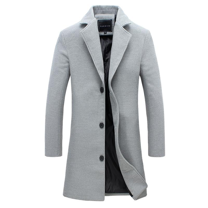 e0440e569b7b 2019 New Winter Wool Coat Slim Fit Jackets Mens Casual Warm Outerwear Jacket  And Coat Blends Suit Design Plus Size M 5XL From Feiyancao