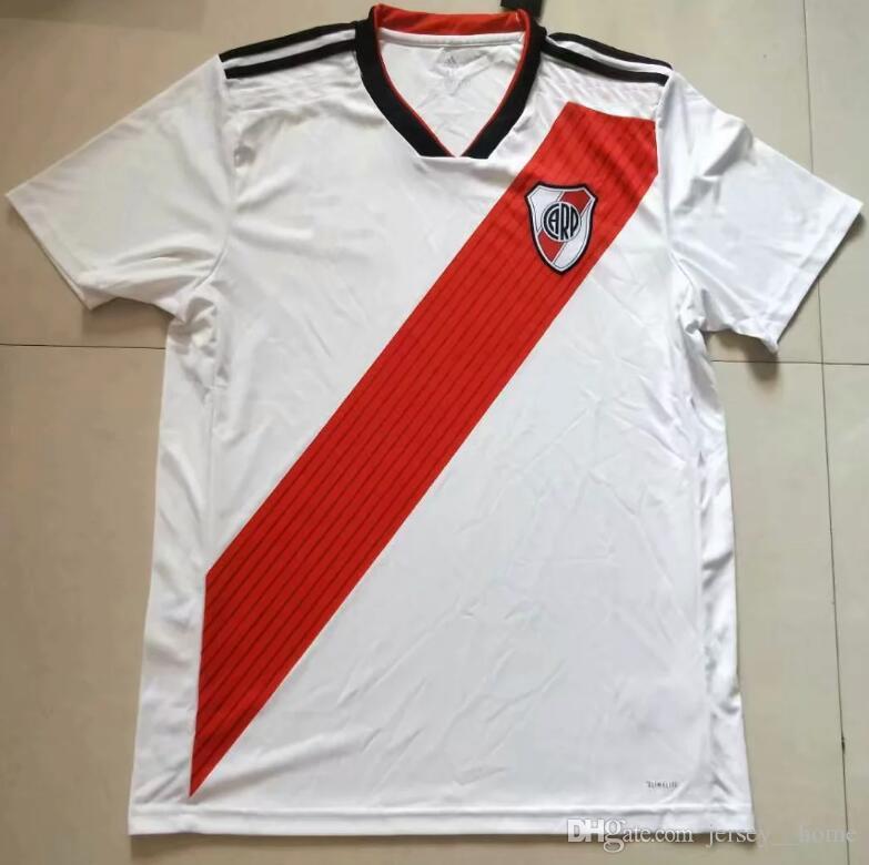 4abd7888d8a42 2018 River Plate Soccer Jersey Tercera Camiseta De Fútbol De Visitante  Uniformes De Fútbol Personalizados Ventas 18 19 Rojo Blanco Calidad  Tailandesa Por ...