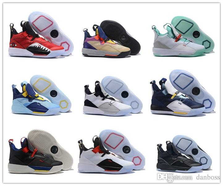 845290836991ed 2019 New Arrival Jumpman 33 XXXIII Sports Basketball Shoes Mens Top Quality  Multicolo Sneakers Designer Trainers 40 46 From Danboss