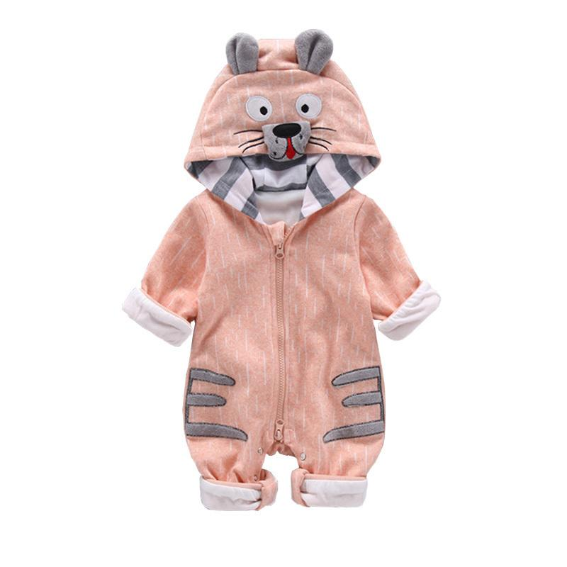 2019 Autumn And Winter Baby Jumpsuit Long-sleeved Velvet Thick Zipper Jumpsuit Animal Shape Comfortable Newborn Clothing Reasonable Price Mother & Kids