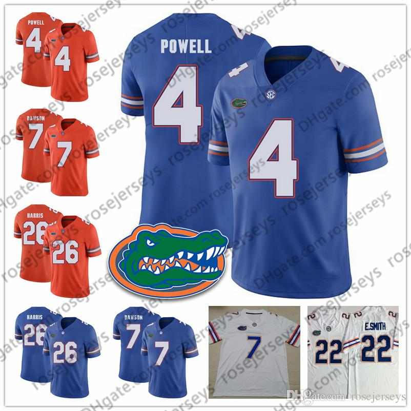 brand new 0f887 ffe80 NCAA Florida Gators #4 Brandon Powell 6 Jeff Driskel 7 Duke Dawson 19  Johnny Townsend 26 Marcell Harris Blue Orange White Football Jersey