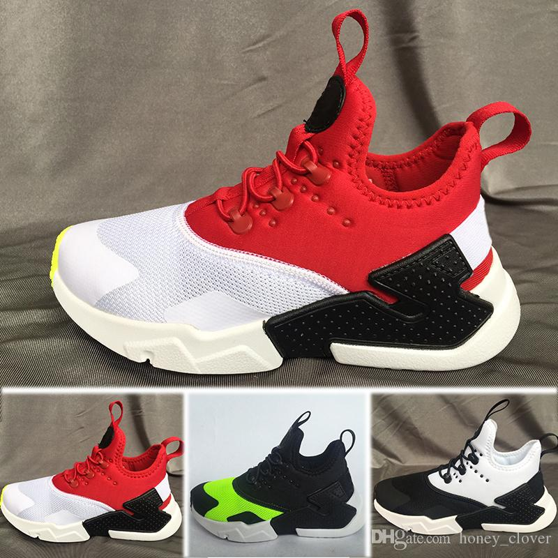 newest 24919 8064d Großhandel Nike Air Huarache Neue Kids Air Huarache Sneakers Schuhe Für  Jungen Grils Authentic All White Kinder Trainer Huaraches Sport Laufschuhe  Von ...