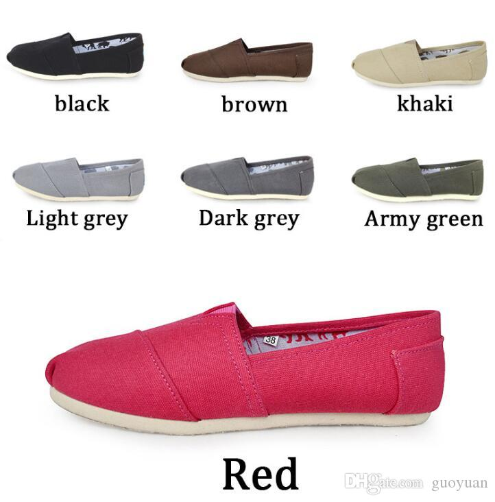 new arrival 647b2 6359f Hot tom Casual Scarpe Donna / Uomo Classici TO MRS Mocassini Canvas Slip-On  Flats shoes Scarpe pigre taglia W5-10 M11-15 spedizione gratuita