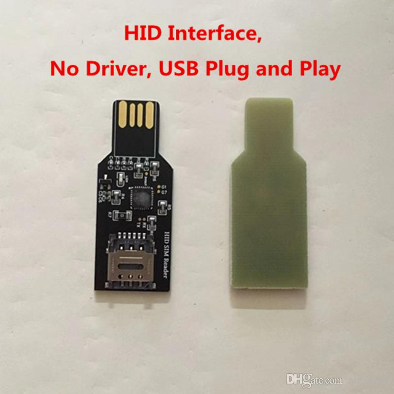 USB 2.0 Dongle For Unlock Sim Card Update firmware for Chinasnow Heicardsim HID interface no Driver.