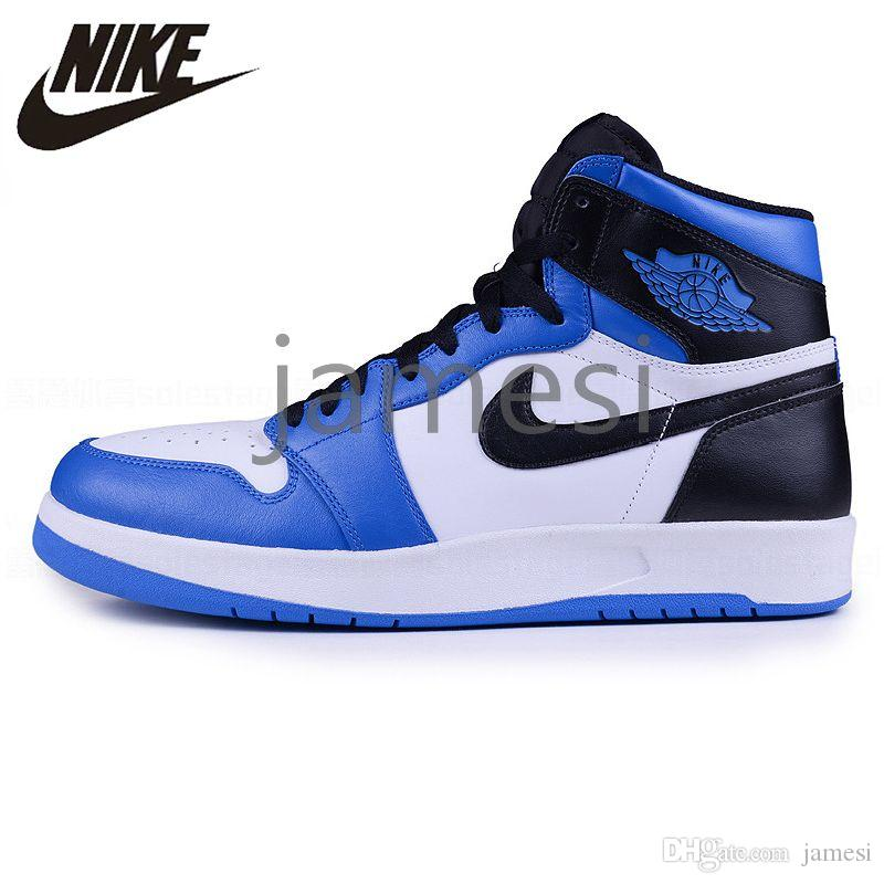 the best attitude 4cbad 53a9c 2019 Air Jordan 1 Retro Basketball Shoes High-top OG 1s Authentic UNC Joe  Navy Blue Black AJ1 Mens Womens I Jordans AJ Sneakers 451680855