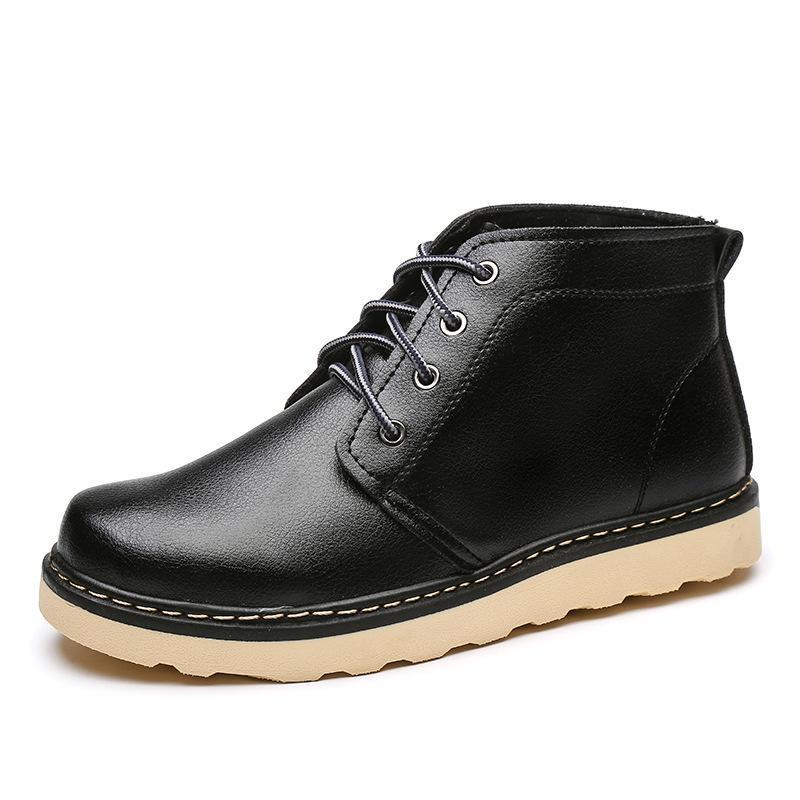 61c25988ca7 Winter Fur Velvet Warm Men Boots Casual Lace Up Soft Comfortable Boots  Autumn Men Platform Shoes Snow Boot Male Plus Size44