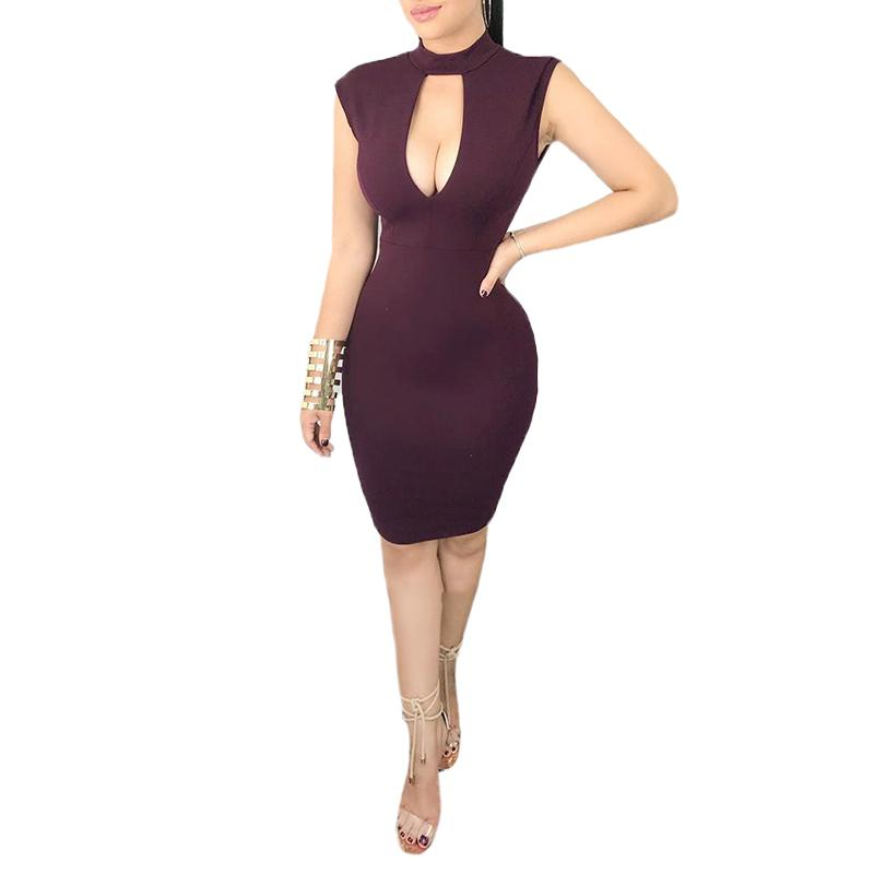 b3648096b057 Summer Women Dress Hollow Backless Slim Sexy Lace Stitching Mini Dress Back  Split Female Bodycon Dress Vestidos Low Cut Cute Party Dress Black Dresses  For ...