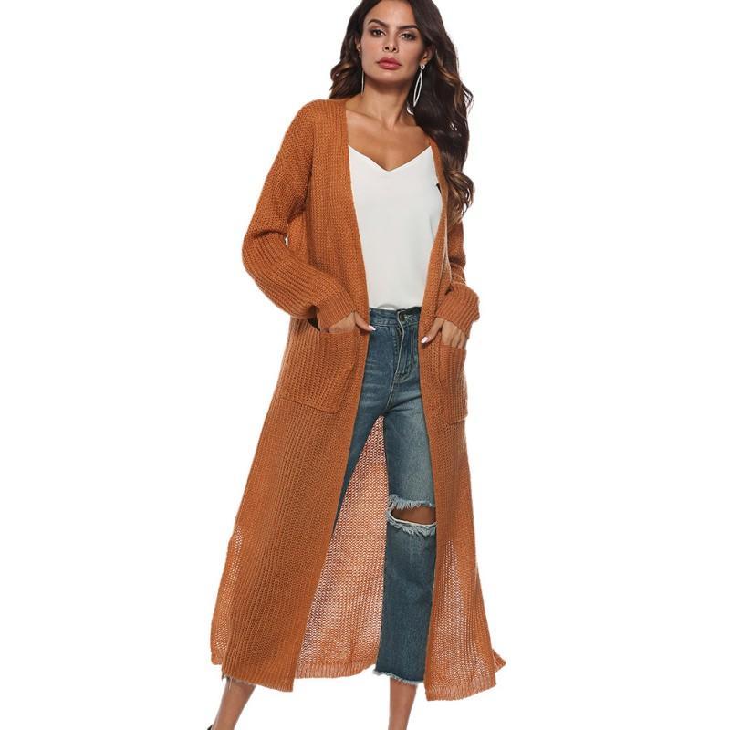 Compre Suéter Mujer Cardigan Largo Tallas Grandes Ropa De Manga Larga  Jersey Suelto Dobladillo Asimétrico Mujeres Prendas De Abrigo Negro Gris A   26.5 Del ... c8615bf2895f