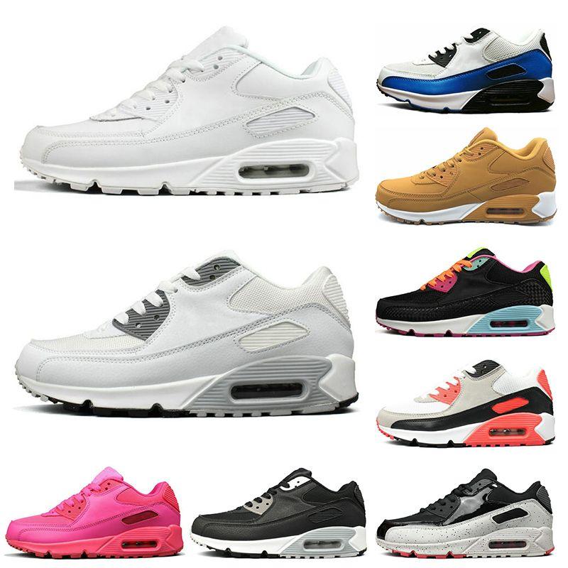 23eaf6d6bd Acquista Nike Air Max 90 Scarpe Da Running Da Uomo Di Design 90 Da Uomo  Giallo Bianco Nero Rosa Da Uomo Scarpe Da Ginnastica Superficie Traspirante  Sportivo ...