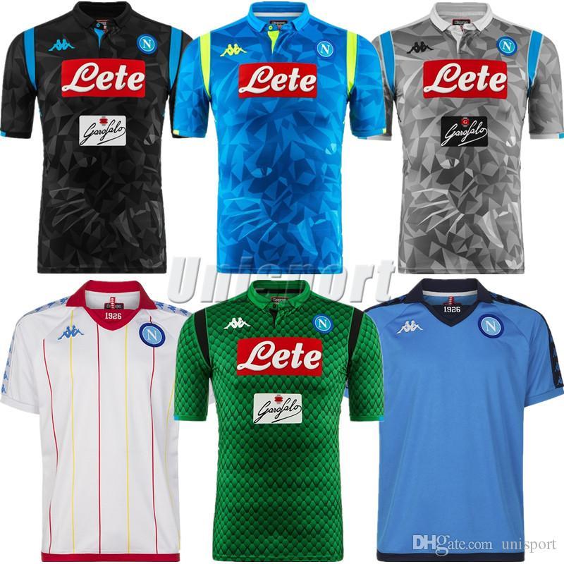 1e4357988 2019 2018 19 SSC Napoli Champions League Soccer Jerseys Naples Futbol Camisa  Hamsik Mertens Insigne Football Camisetas Shirt Kit Maillot From Unisport
