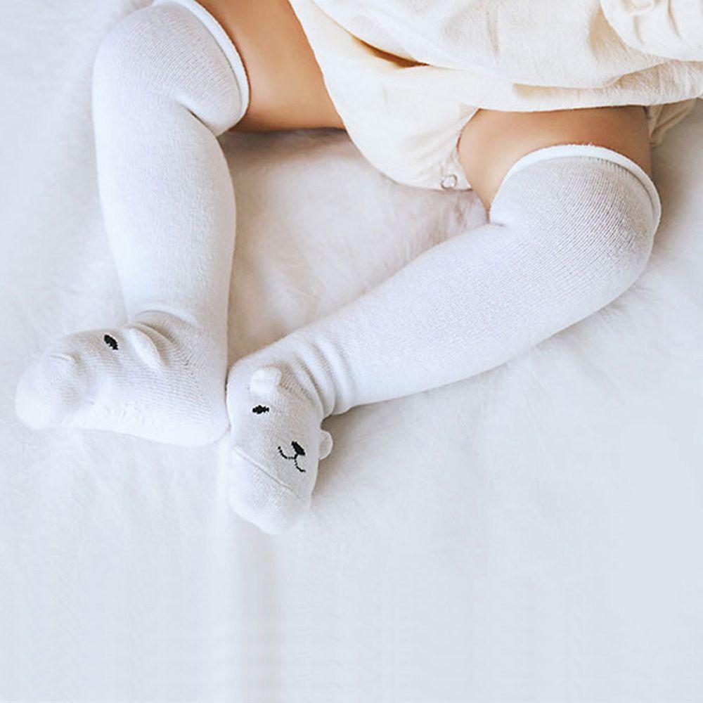Baby Cute Cotton Knee High Socks Anti-Slip Long Leg Warmer Unisex Kids Stockings