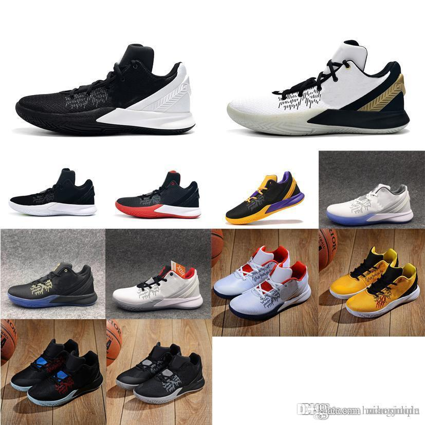 save off 8d918 aff6e Men kyrie flytrap 2 basketball shoes low 5s Black white Gold Team Red  Yellow youth kids kyries irving ii sneakers tennis with box size 7 12