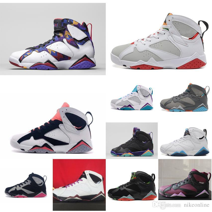 0d1f9547b265 2019 Cheap Womens Jumpman Retro 7s Vii Basketball Shoes Black Grey Pink  White Red Youth Kids Boys Girls J7 Air Flights Sneakers Boots For Sale From  ...
