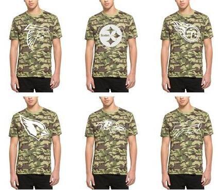 huge discount 27822 d7f0b Men Atlanta Falcons T shirt Pittsburgh Steelers Titans Tennessee Cardinals  Baltimore Ravens Buffalo Bills 47 Camo Alpha T-Shirt