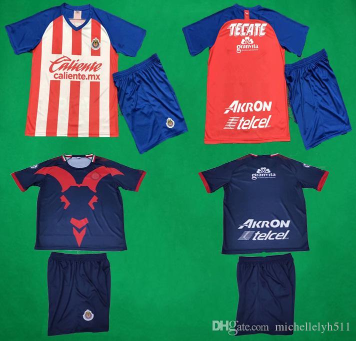 8dcc86c080e 2019 2020 Chivas Soccer Jersey Shorts Guadalaja TARZAN Soccer Player s Thai  Quality Uinform Adults Short Sleeve Football Set Men Sports Suit Chivas  Soccer ...