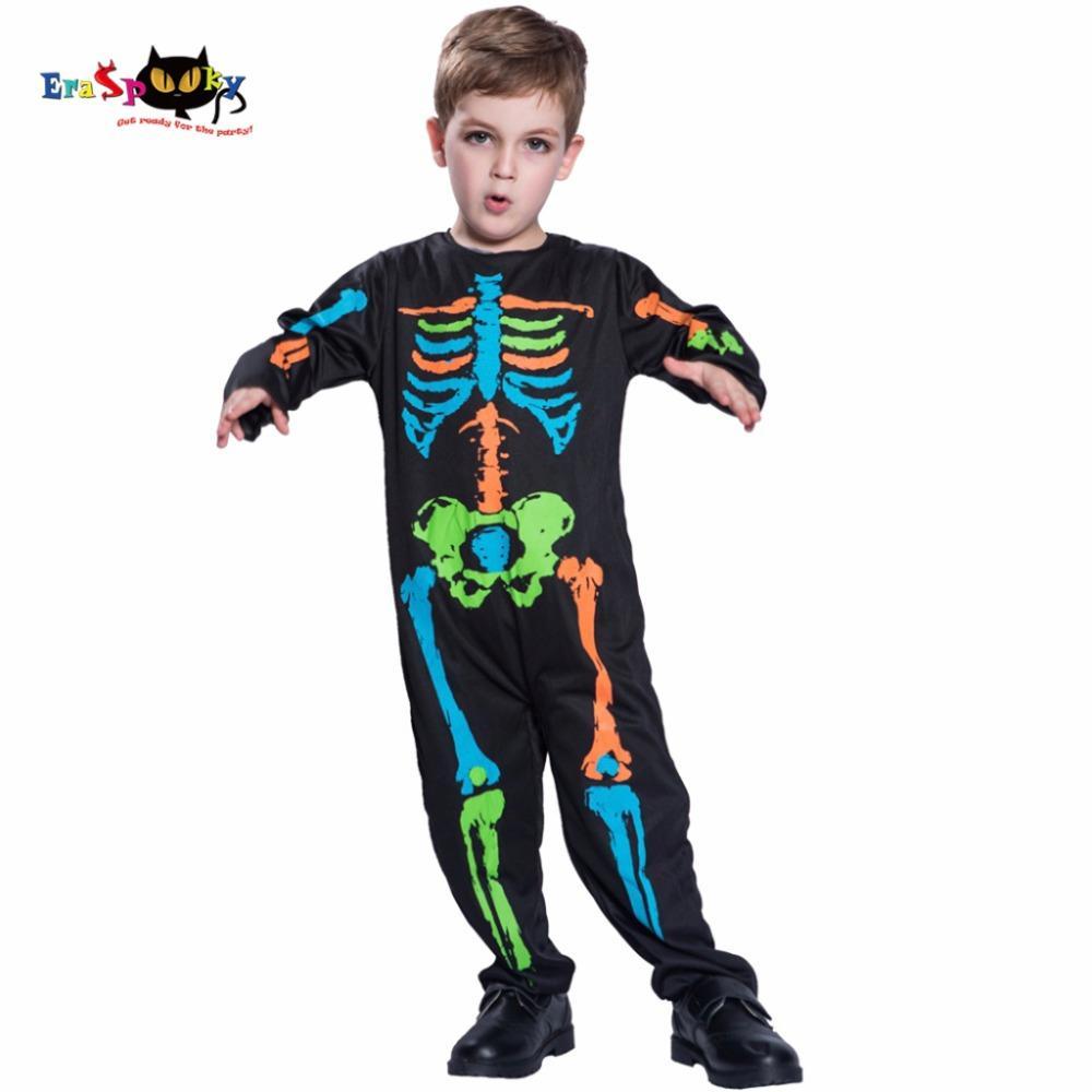 Halloween Costumes For Kids Scary.Ostumes Halloween Costumes Children Multicolor Bones Halloween Costume For Kids Scary Boys Skeleton Cosplay Black Pyjama Jumpsuit Carniva