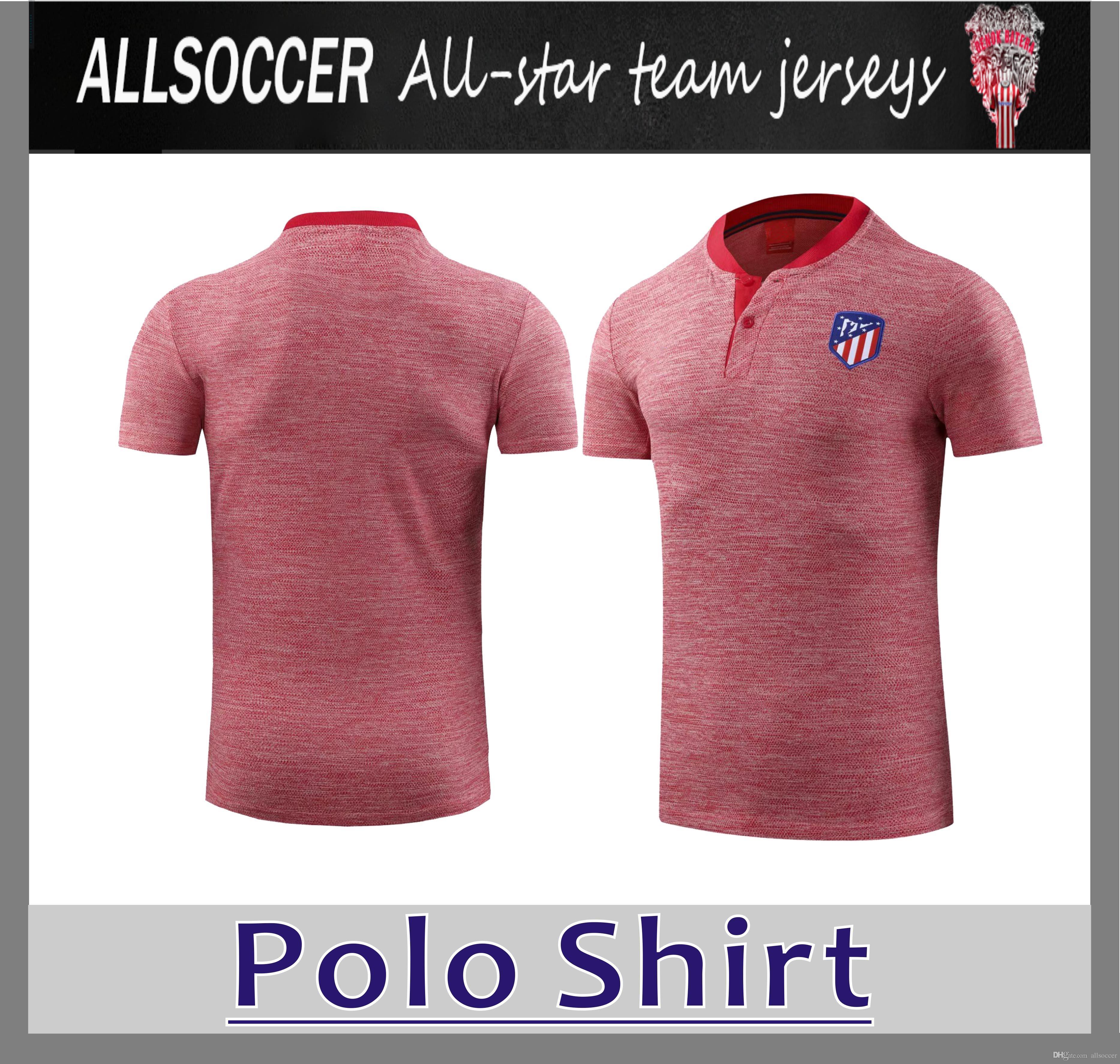 Compre 2019 Atletico Madrids Rosa Camisa Polo 18 19 GRIEZMANN Futebol  Uniformes De Futebol Camisa De Futebol Em SaleAthletic De Allsoccer d81156f18d727