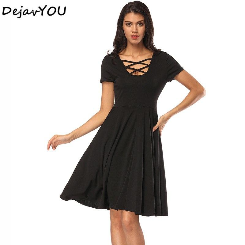 4adbde318841 Plus Size Bodycon Dress Plunge Cross Strap Black Deep V Neck Sexy Club  Bandage Dresses Short Sleeve Swing Vestido Dresses For Cocktail Dress  Cocktail Party ...