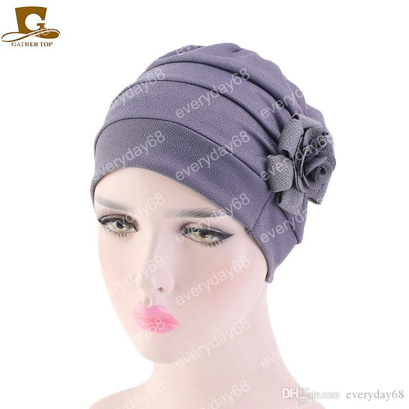 8d8b3c1201925 New Women Large Flower Chemotherapy Cap Ruffle Cancer Chemo Hat Turban  Headband Scarf Beanie Cap for Cancer Patient Women Turban Cap Women  Chemotherapy Cap ...