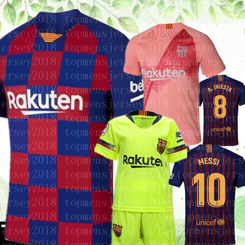 separation shoes 8c187 0bee4 2020 MESSI Soccer Jerseys Suárez A.INIESTA DEMBELE COUTINHO Soccer Shirts  Barcelona football WOMEN man Kids Kits