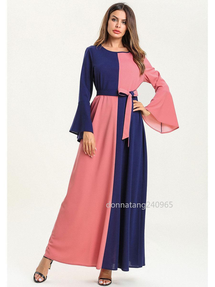 1ee19e1d2bc 2019 Abaya Dubai Islamic Clothing Bandage Muslim Dress Women Long Robe Plus  Size Caftan Marocain Kaftan Pakistan Turkish Moroccan From Donnatang240965