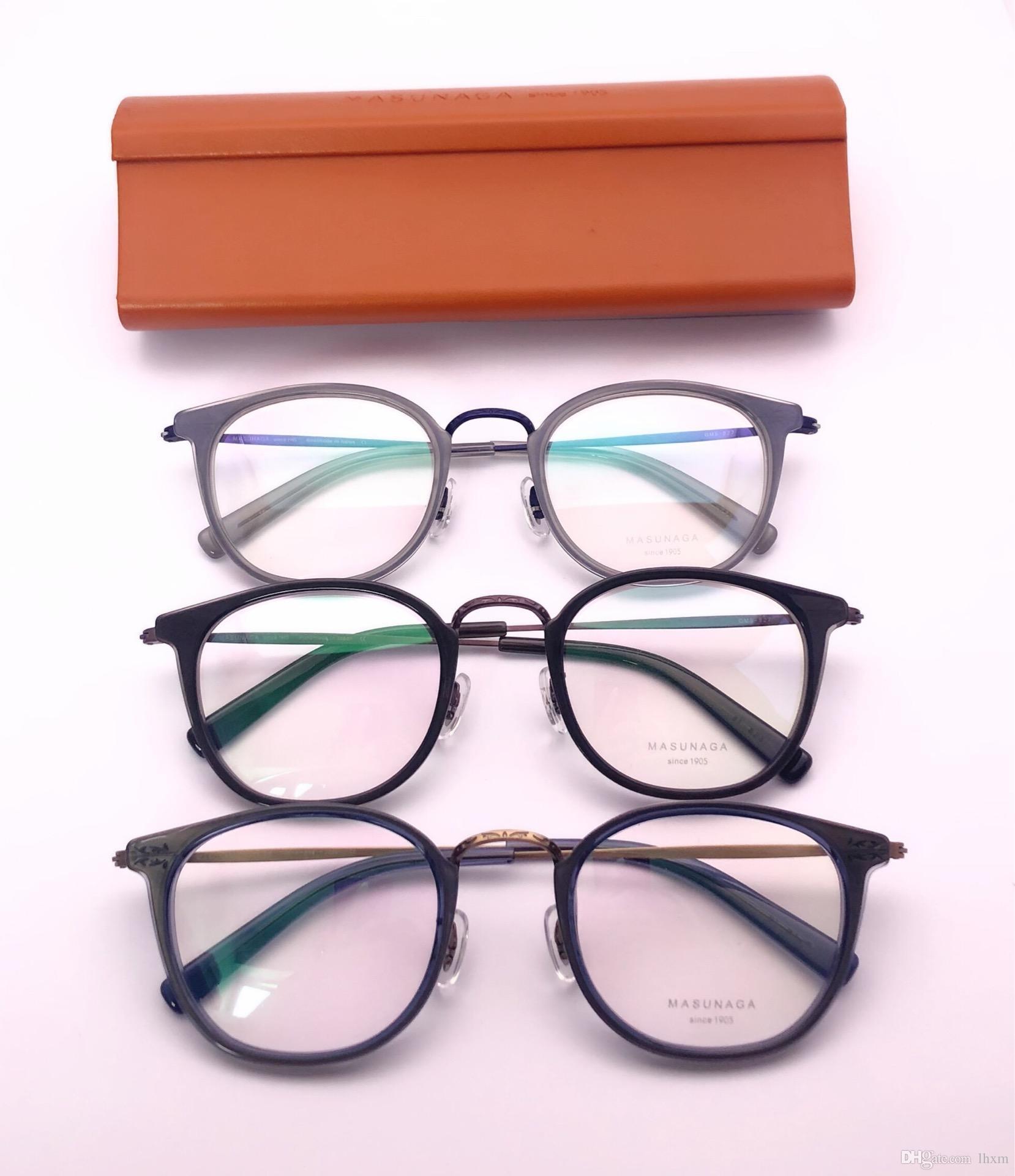 3bd750c77c 2019 Brand Design 2018 New GMS 827 Men S Eyeglass Frame Fashion Round Eyeglass  Frame Size 48 22 145 From Willielin