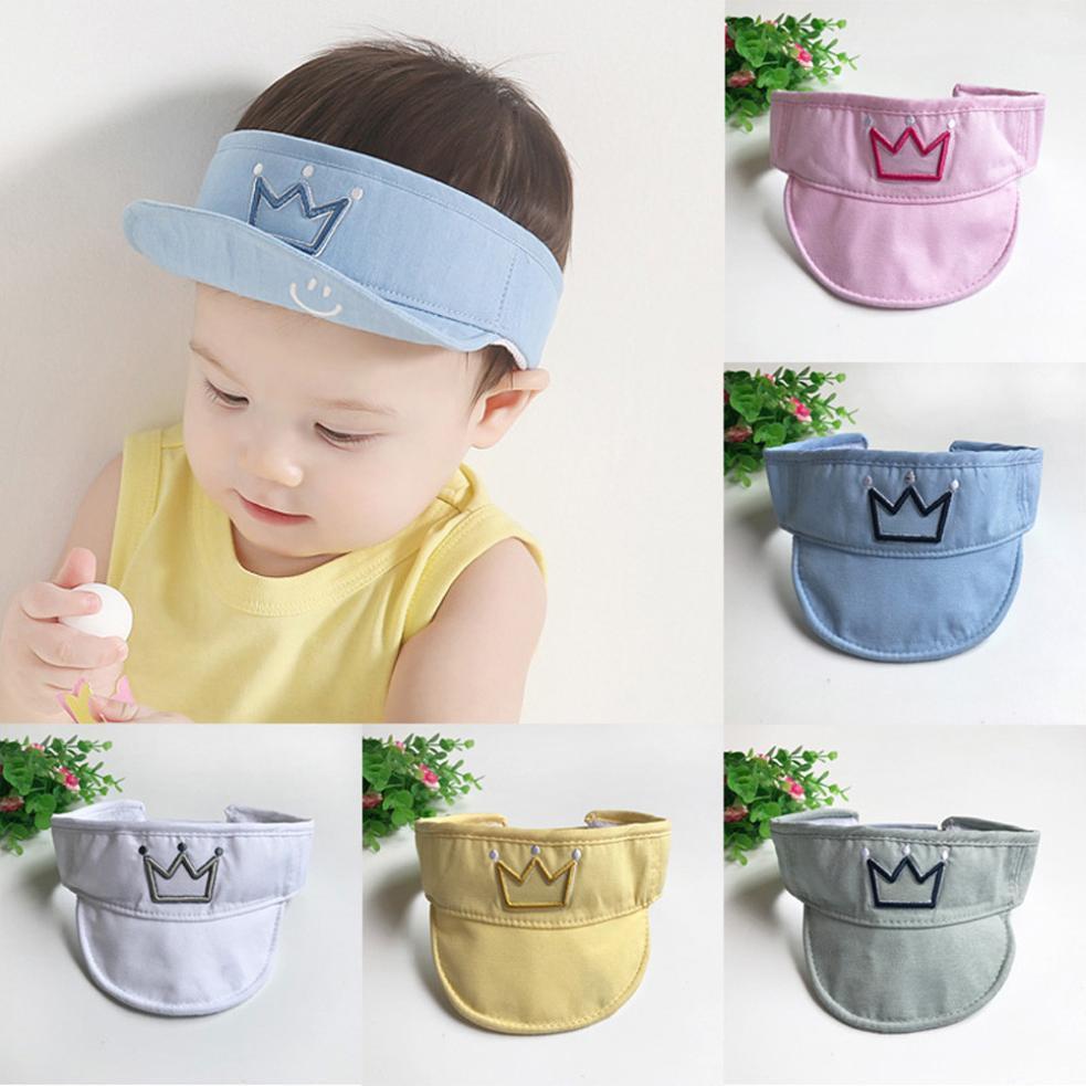 937d47488cd 2019 New Soft Cute Kids Crown Flat Cap Children Cotton Baseball Cap Baby  Boys Girls Hip Hop Hats Comfortable Touch High Quality Gift From Kareem11