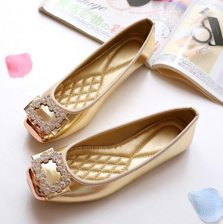 80242b444af New 2019 Fashion Spring Summer Casual Women Flats Shoes Ballerina Loafers  Woman Flat Shoes Crystal Single Shoes Shoes For Sale Cheap Shoes Online  From ...