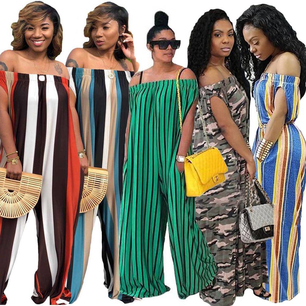 6171f44d0f23 Nuevo estilo de la ropa de las mujeres africanas Dashiki vestido de la  manera de impresión de tela elástica fuera del hombro mono talla S M L XL  2XL ...