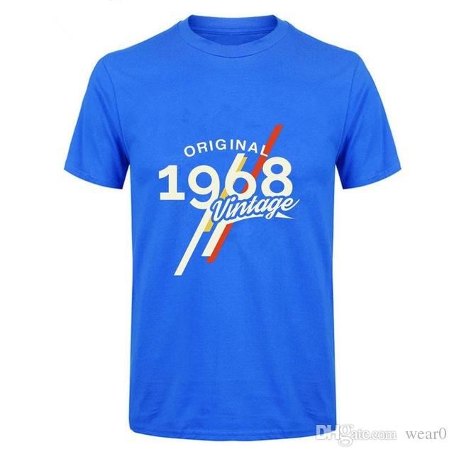 2019 Mens Designer T Shirts Vintage 1968 Classic 50 Years Birthday Shirt Men 50th FatherS Day Present Tee Custom