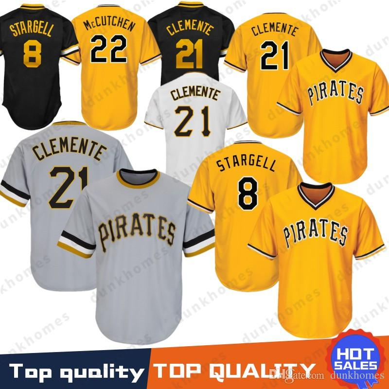 cd3dc5d91 2019 Stitched 21 Roberto Clemente Pittsburgh Pirates Baseball Jersey 22  Andrew 29 Francisco Cervelli 27 Kent Tekulve 6 Marte 8 Stargell Majestic  From ...