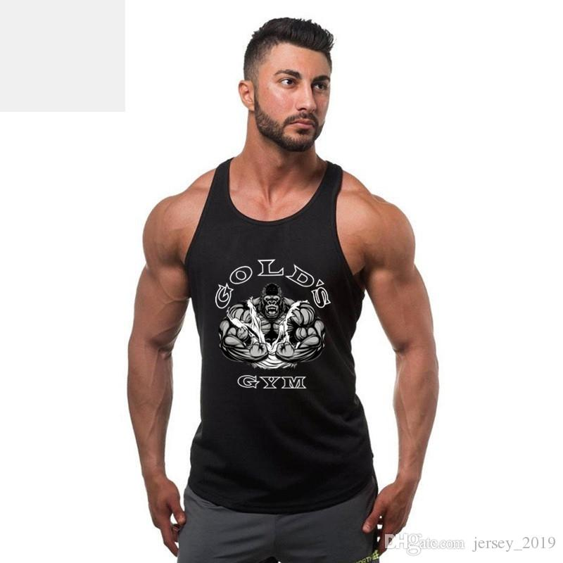 66549d5a 2019 New Brand Gyms Clothing Tank Tops Fitness Mens Bodybuilding Tanktops  Cotton Vest For Muscle Men Body Workout Sleeveless Shirt #271578 From  Jersey_2019, ...