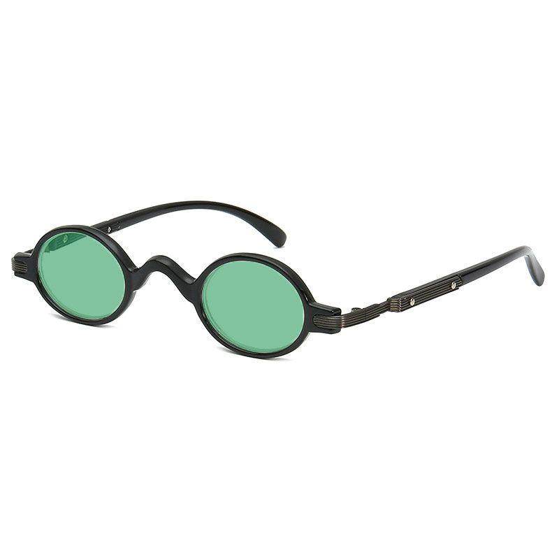 22081698098d4 Compre Pequeno Rodada Óculos De Sol Das Mulheres Retro 2018 Armação De  Metal Lente Vermelha Preta Redonda Óculos De Sol Do Vintage Para Homens  Punk Eyewear ...