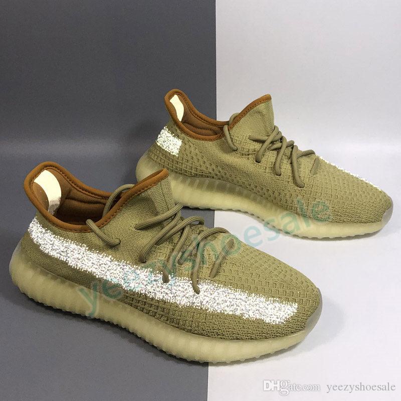 kanye chaussures de course pour hommes mâchefer désert sauge feu arrière lin réfléchissant zyon Yeshaya yecheil hommes femmes chausse des espadrilles de sport