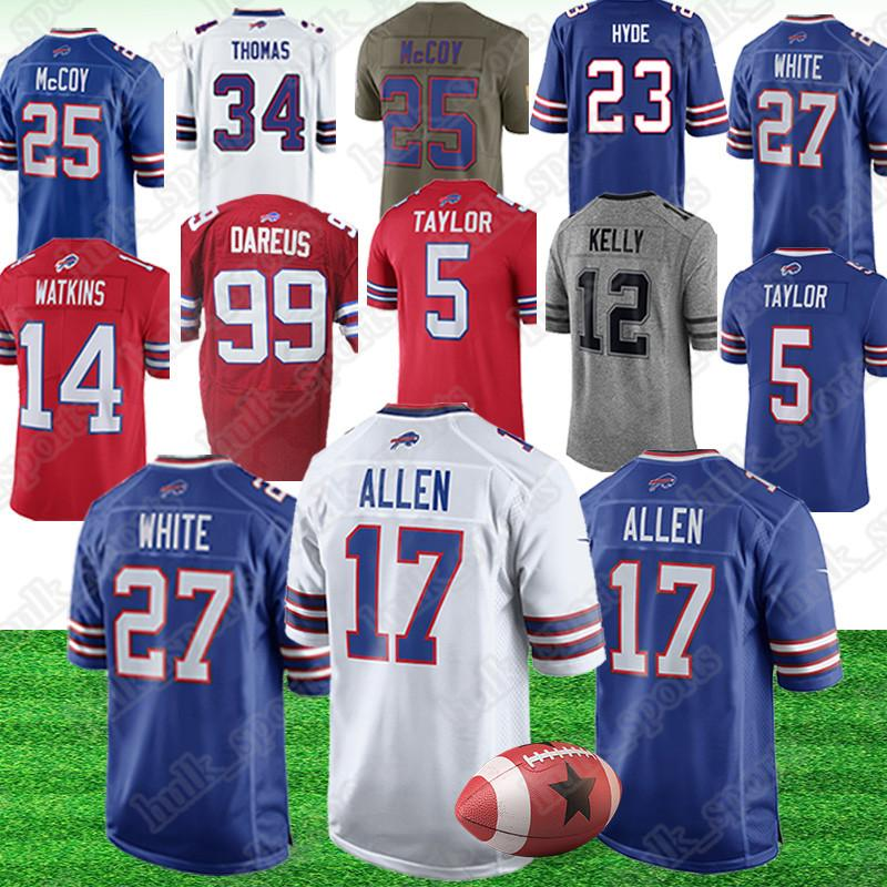 new product b6bc3 cbbe2 Buffalo 17 Josh Allen jersey 27 Tre Davious White 95 Kyle Williams jerseys  49 Tremaine Edmunds american football jerseys