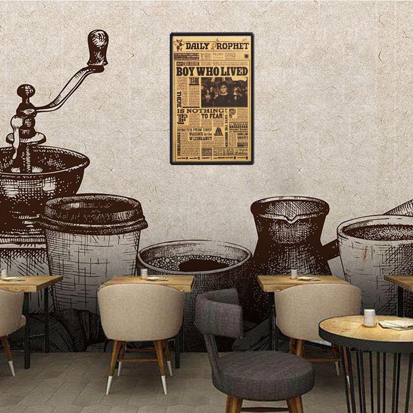 يوميا النبي ريترو المشارك هاري بوتر الكلاسيكية الفيلم ملصق الحائط لغرفة الاطفال ديكور المنزل ورق الحائط بالجملة