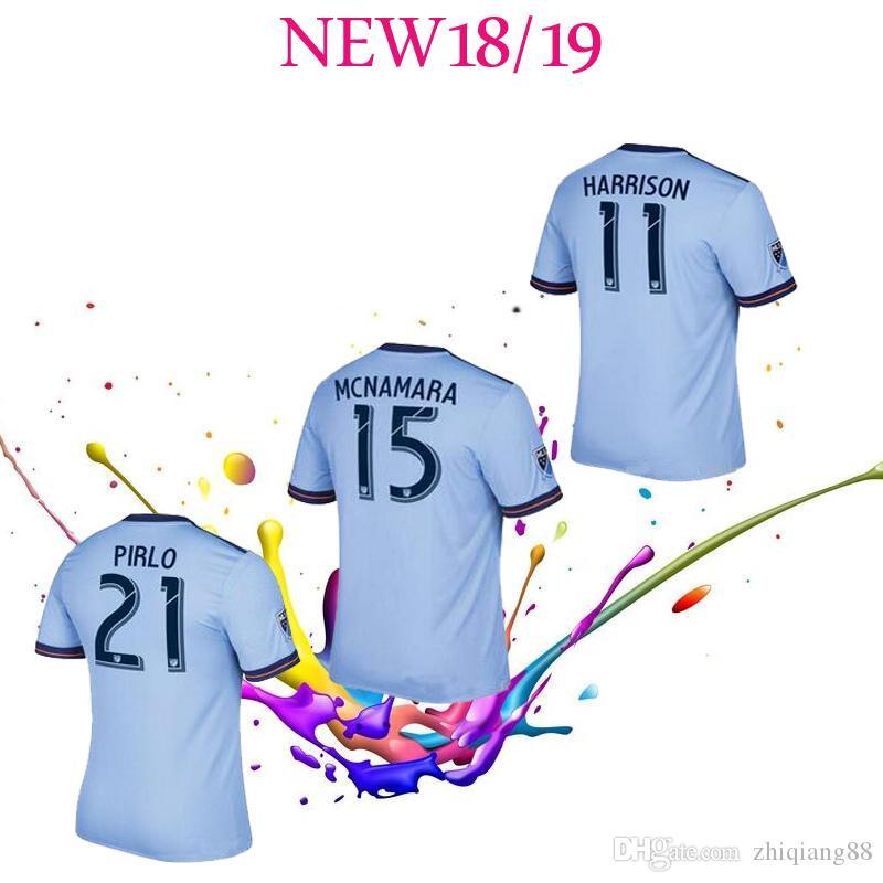 Compre 2018 Fan Version Nova Iorque Cidade MLS Futebol Jersey Camisas De  Futebol 18 19 NYC Casa Pirlo Camiseta De Futbol David Villa Maglie Jersey  De ... db2ed7fb3f575
