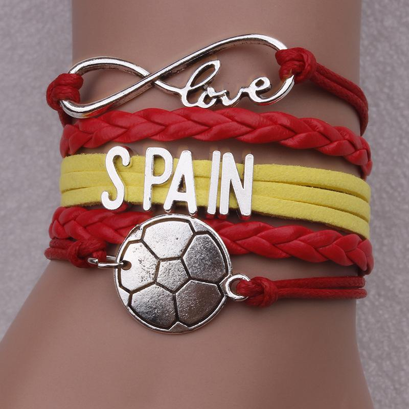 Cashmere Rope Alloy Multi-layer Flag Bracelet