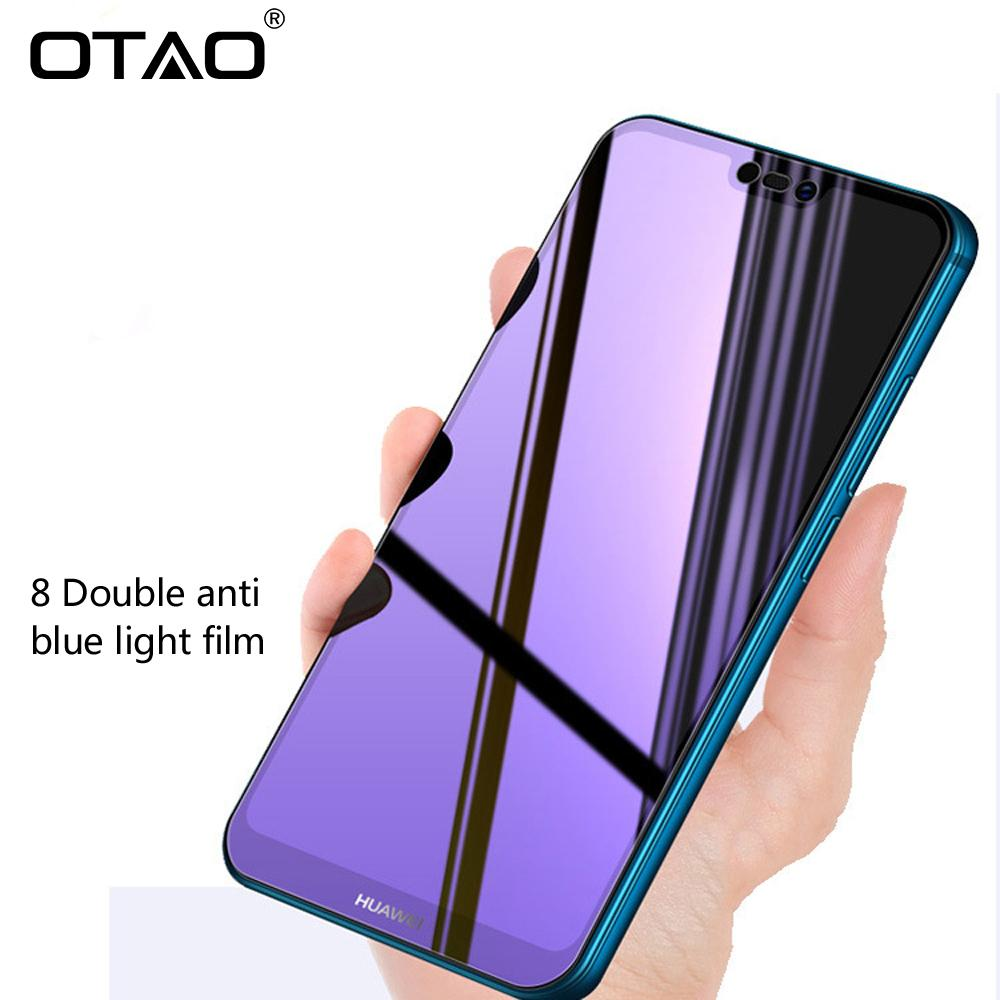 OTAO Full Cover Purple Light Tempered Glass For Huawei P20 Pro Screen  Protector For Honor 10 9 8 8X MAX Play V10 Note 10 8 Film