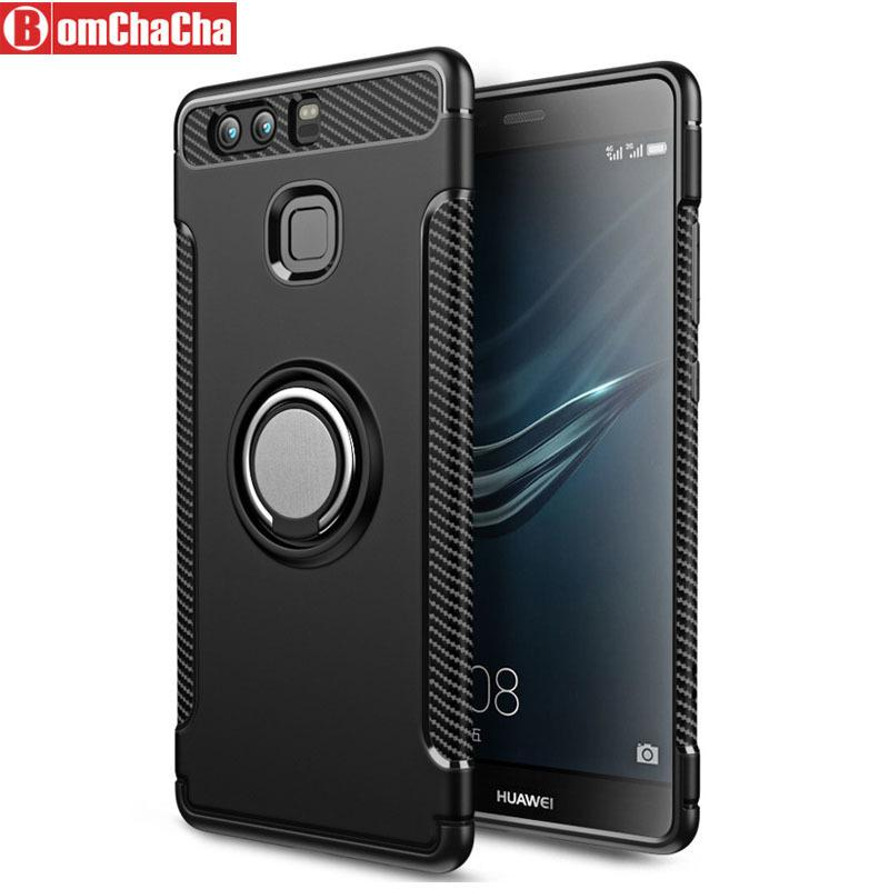 check out 56724 4a70a P20 Lite Armor Hybrid Case For Huawei P9 P10 Plus Mate 10 20 Pro Car  Magnetic Holder Cover C19041301