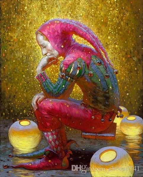Christmas Paintings For Kids On Canvas.Modern Art Victor Nizovtsev Canvas Prints Oil Painting Kids Room Christmas Decorations Wall Picture Best Christmas Gift Vk 13